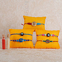Set Of 5 Alluring Rakhis: Set of 5 Rakhi to UAE
