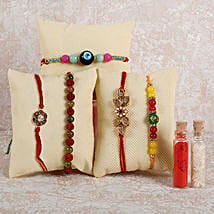 Set Of 5 Wonderful Rakhis: Set of 5 Rakhi to UAE