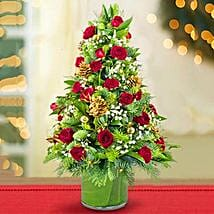 Shimmering Christmas Flower Tree: Christmas Gift Delivery in UAE
