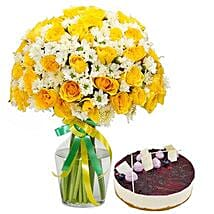 Sunshine Bouquet n Cake: Same Day Flowers for Wife in UAE