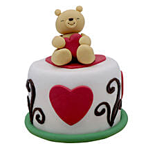 Teddy Cake For Valentines Day: Valentine's Day Cake Delivery in Dubai