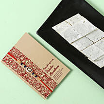 Yummy Kaju Katli and Designer Rakhi Combo: Send Rakhi to Al Ain