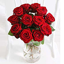 A Dozen Luxury Red Roses: Christmas Flowers to UK
