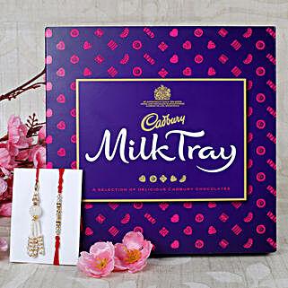 Bhaiya Bhabhi Rakhi with Cadbury Milk Chocolates: Send Rakhi With Chocolates to UK