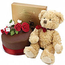 Chocolate Rose Cake With Bear And Lindt: Cakes to Derby