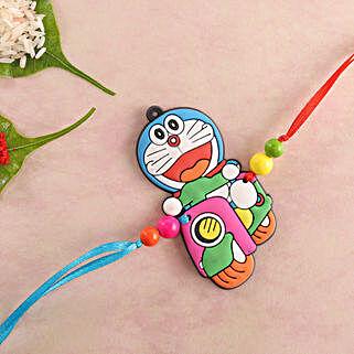 Colorful Doraemon Kids Rakhi: Rakhi for Kids to UK