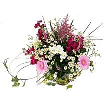 Country Garden Bouquet: Send Christmas Flowers to UK