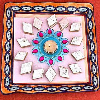 Designer Tealight N Kaju Katli: Send Diwali Gifts to UK