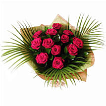Dozen Red Roses: Christmas Flowers to UK