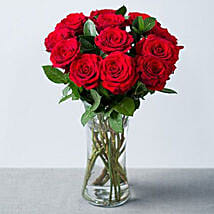Elegant Bouquet Of Romance 12 Red Roses: Send Valentine Day Gifts to UK