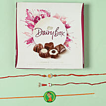 Family Rakhi Set with Milk Chocolate Box: Rakhi to Chicester