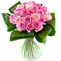 Graceful Bouquet Of Pink Roses: Rose Day Gifts to UK