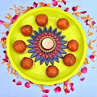 Gulab Jamun N Tealight: Diwali Gift Delivery in UK