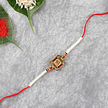 Hand Crafted Aum Wooden Rakhi: Send Rakhi to UK