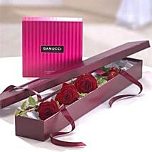 I Love You Chocolate Gift Set: Flowers and Chocolates Delivery in UK