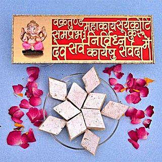 Kaju Barfi N Ganesha Wall Hanging: Send Diwali Gifts to UK