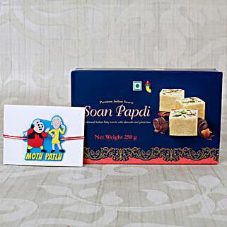 Kids Rakhi Sweet Hamper: Rakhi and Sweets to UK