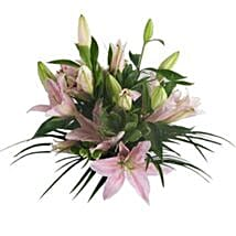 Lush Lillies in Pink: Birthday Flower Bouquets to UK