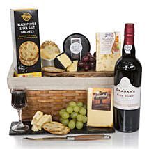 Luxury Port And Cheese Hamper: Mother's Day Gift Delivery in UK
