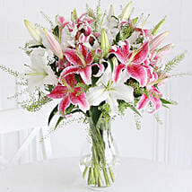 Mixed Lilies: Send Christmas Flowers to UK
