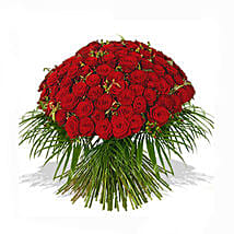 One Hundred Red Roses Bouquet: Bouquets for Birthday