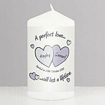 Perfect Love Personalized Wedding Candle: