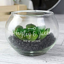 Personalised New Home Glass Terrarium: Gifts to Liverpool