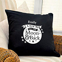 Personalized Love Dovey Cushion Coverblack: Send Gifts to Liverpool