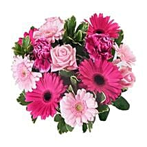Pink Baby Girl Bouquet: Birthday Flower Bouquets to UK