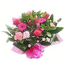 Pink Roses and Carnations: Send Christmas Flowers to UK