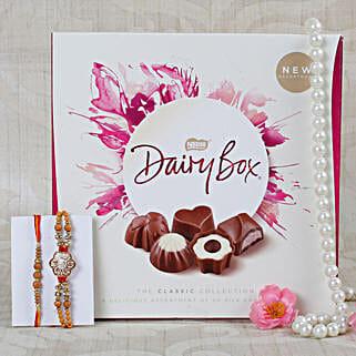 Punjabi Ek Onkar Chocolate Rakhi Hamper: Send Rakhi With Chocolates to UK