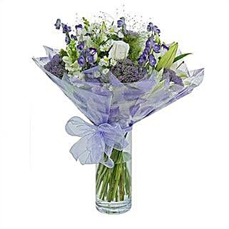 Purple Haze Arrangement: Send Sympathy and Funeral Flowers to UK