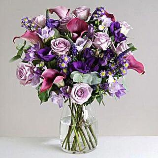 Purple Haze: Flower Bouquets to UK