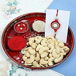 Raksha Bandhan with Cashew Nuts: Send Rakhi With Dryfruits to UK
