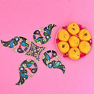 Rangoli N Pedha Delight: Diwali Gift Delivery in UK