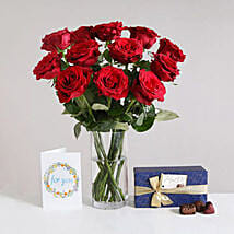 Romantic Gift Set: Rose Day Gifts to UK