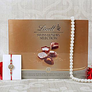 Royal american Diamond Lindt Chocolate Hamper: Rakhi With Chocolates UK