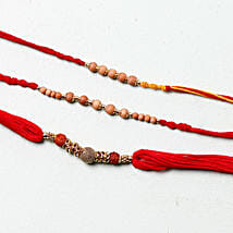 Sandalwood Rakhi Set: Rakhi Delivery in London, UK