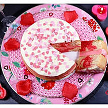 Valentines Strawberry Swirl Cake: Send Cakes Oxford
