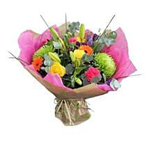 Vibrant Stylish Bouquet: Flowers to Manchester UK
