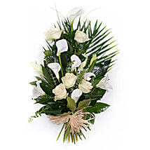White Tied Sheaf: Send Easter Flowers to UK