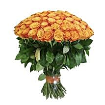 100 Long Stem Orange Roses: Same Day Flower Delivery in Denver