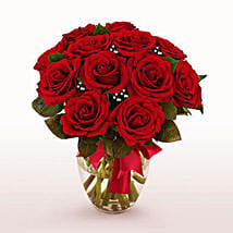 12 Long Stem Red Roses: Send Valentine Gifts to Houston