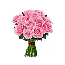 12 Pink Roses: Flower Delivery in USA