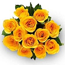 12 Yellow Roses: Send Flowers to Ontario