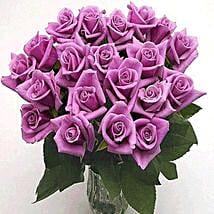 25 Long Stem Lavender Roses: Flowers to Ontario