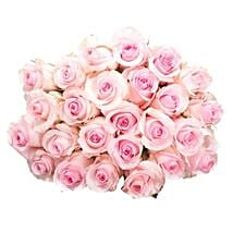 25 Long Stem Pink Roses: Send Flowers to Ontario