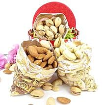 3 Dry Fruits Potli Combo: Send Karwa Chauth Gifts to USA