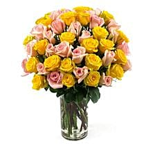 50 Long Stem Assorted Roses: Send Flowers to Chicago