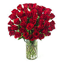 50 Long Stem Red Roses: Flower Delivery in Chicago